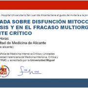 I Jornada Sobre Disfunción Mitocondrial en el Paciente Crítico